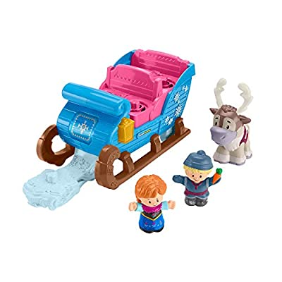 Little People GGV30 Fisher-Price Disney Frozen Kristoff's Sleigh, Figure and Vehicle Set, Multi-Colour from Mattel
