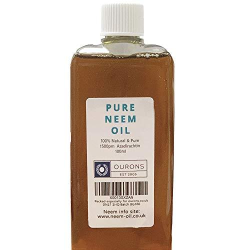 OURONS - Aceite de neem 100 ml, 100% virgen puro, aceite multiusos para plantas Hogar y jardín