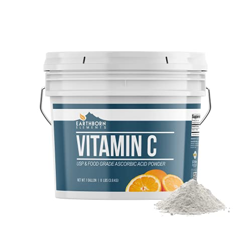 Vitamin C Powder (Ascorbic Acid) (1 Gallon) Resealable Bucket, Antioxidant, DIY Skin Care*