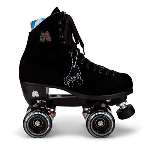 Moxi Lolly Set Pro Retro Figure Quad Skate Rollschuhe Wildleder (Classic Black, Moxi 10 EU 44)