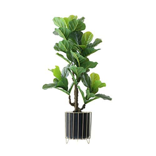 Hogar Planta Artificial Nordic Grande Árbol Artificial Ficus Lyrata Plantas Verdes Hojas en Maceta Faux PE Falso árbol for la decoración del hogar árboles Artificiales (Color : B)