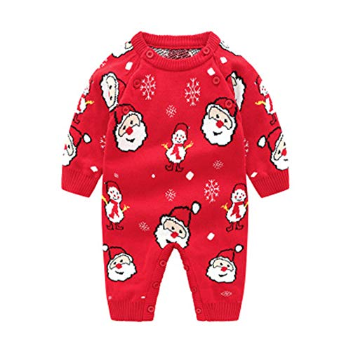 ADKYBaby Onesies Cartoon Santa Claus Deer Baby Clothes Baby Long Romper