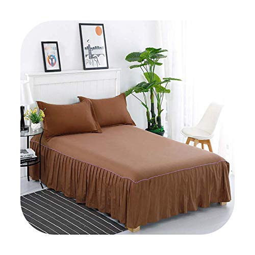 Bedspread Corrugated Edge Fitted Sheet With Elastic Band Mattress Cover Bedding Protector Pad Twin/Queen/King Size-4-1.2X2M Cover
