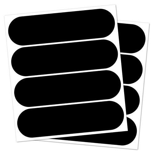 B REFLECTIVE Éco Standard™, (Paquete de 2) Kit de 4 Pegatinas Retro Reflectantes, Seguridad y Alta Visibilidad, 8,5 x 2,3 cm, Negro
