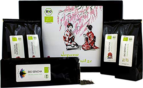 C&T Japanischer Grüner Tee Geschenkset | 5 x 50 g - Bio...