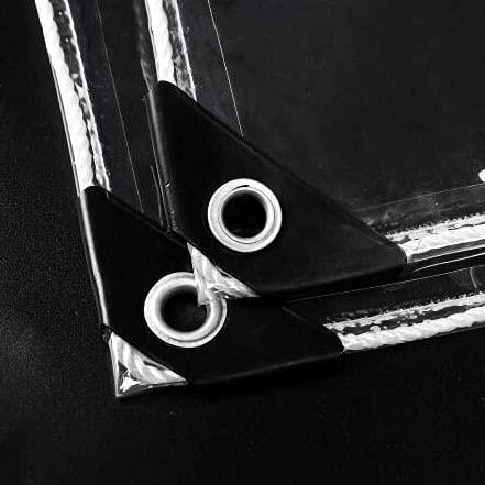 U/D Abdeckplanen, wasserdichte, Klare Plane, Strapazierfähige Transparente PVC-Kunststoffplanenabdeckung, Feuchtigkeitsspendende Anti-Aging-Isolierung Regensichere...