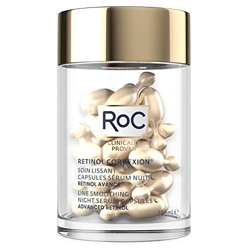 RoC - Retinol Correxion Siero Notte Levigante Linea - Anti Rughe e Invecchiamento - Crema Idratante Rassodante - Capsule 30 Pezzi