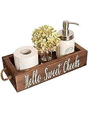 Ruiuzioong Caja de decoración de baño Nice Butt - 2 Lados sobre Acentos rústicos de Granja Titular de pañal de Papel higiénico de Letras pintadas Divertidas (Brown)
