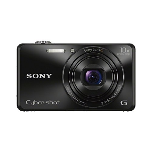 "Sony DSCWX220B - Cámara de 18.2 MP (Pantalla de 2.7"", Zoom 10x, WiFi, NFC, Full HD) Color Negro"