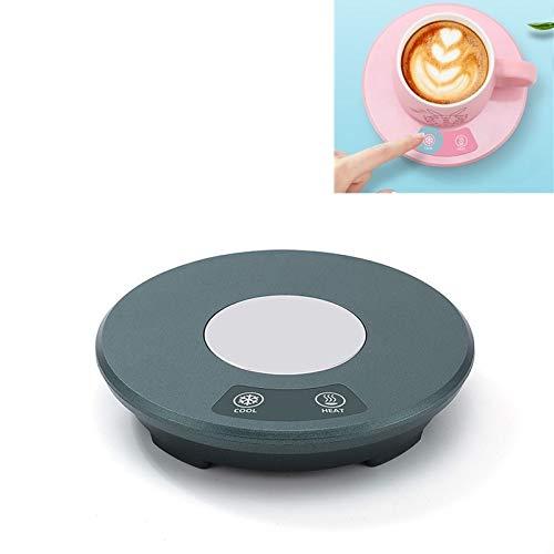 XGQ Fast Fight Heating Pad USB Mini Coche portátil Hogar Calefacción y Cooling Cup Coaster (Color : Green)