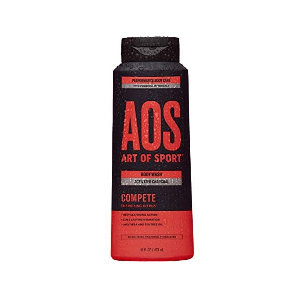 Art of Sport Activated Charcoal Body Wash for Men, Compete Scent, Energizing Citrus...