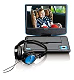 Lenco Tragbarer DVD-Player DVP-910 - DVD-Player mit integriertem Akku - Schwenkbarer Bildschirm - USB Anschluss - 12 Volt Kfz Adapter