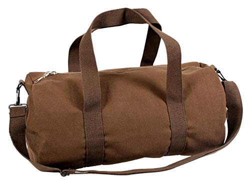 Rothco Canvas Shoulder Duffle Bag - 19 Inch (Earth Brown)