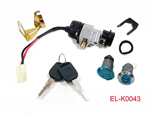 2 Wire 3 Position Ignition Key Switch with Handlebar Lock Pin for Taotao ATE501 ATE-501 Electric Scooter Moped 11048A594
