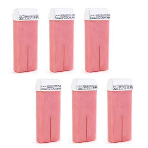 6 cartuchos de cera caliente rosa micromica Melissa | 6 unidades cada una de 100 ml | Made in Italy