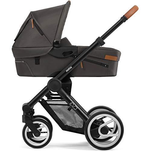 Mutsy EVO Urban Kombikinderwagen - Farbe: Stone Grey. Gestell Black
