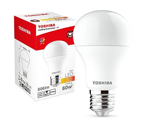 Toshiba LED-lamp A60 8,5 W (60 W) 806 lm 2700 K 80Ra ND E27, plastic, 60 W, wit, 60 x 60 x 112 cm