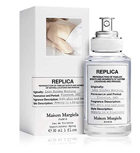 100% auténtico Maison Margiela Replica Lazy Sunday Morning 30ml edt + 3 muestras de nicho - Gratis