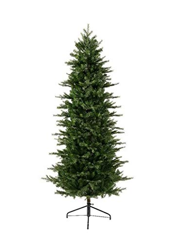 E+N Albero di Natale Grandis Fir Slim verde, altezza: 180 cm, 1149 punte, supporto in metallo