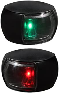 HELLA 980520901 '0520 Series' NaviLED Multivolt 8-28V DC 2 NM Compact Port and Starboard Navigation Light Kit with Clear Outer Lens and Black Shroud