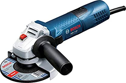 Foto di Bosch Professional Smerigliatrice Angolare GWS 7-125, Ø Disco: 125 mm, Impugnatura aggiuntiva, Flangia di Montaggio, Dado di serraggio, Confezione in Cartone, 720 W, 230 V, Blu