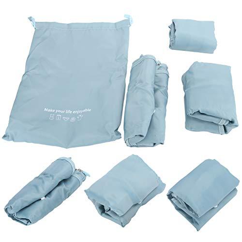 Bolsas de almacenamiento, organizador de maleta de textura plana, impermeable para viajes de senderismo