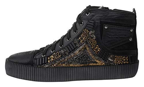 OTTO KERN 80684 Leder Sneaker Applikationen schwarz, Groesse:37.0