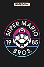 Notebook: Super Mario Bros 1985 Neon Circle Logo Graphic , Wide ruled 100 Pages Bank Lined Paperback Journal/ Composition Notebook