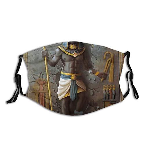 Popsastaresa Ägypten Anubis ägyptischer Kulturkönig,StaubwaschbarerwiederverwendbarerFilterundwiederverwendbarerMundschutzgesicht
