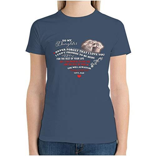 Camiseta de manga corta con estampado de leopardo a mi hija creativa para niñas y adolescentes