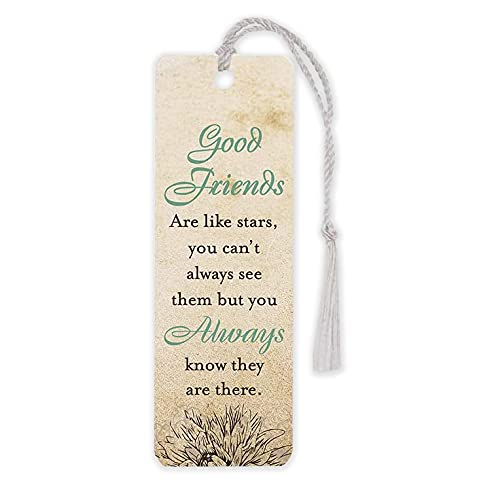 Good Friends are Like Stars 2 x 6 Glossy Paper Bookmark with Tassel Pack of 12