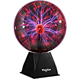 Plasma Ball, 8 Inch Plasma Lamp, Touch & Sound Sensitive Plasma Globe, Theefun Plug-in Electric Ball, Nebula Thunder Lightning for Parties, Home, Kids, Bedroom, Prop, Decorations