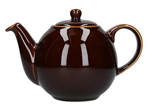 London Pottery Dexam Teekanne rund, für 4 Tassen, Rockingham braun