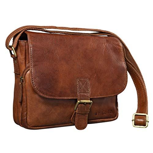 STILORD 'Lucian' Borsello uomo Borsetta donna Stile vintage in pelle Borsa piccola a tracolla in cuoio A5 per Tablet iPad da 10.1', Colore:maraska - marrone
