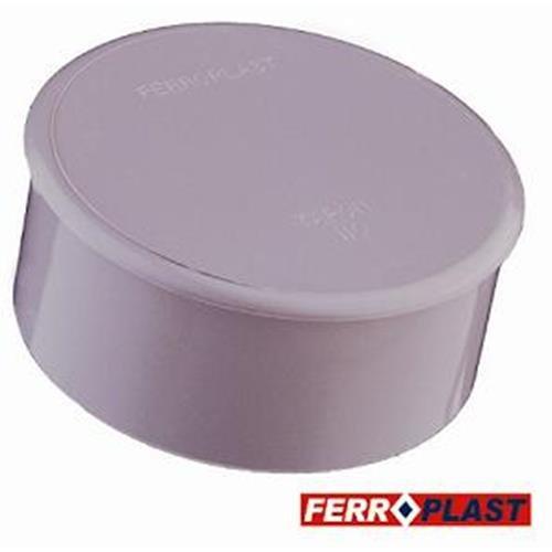 Ferroplast - Tapon ciego pvc gris 110mm. - 205042