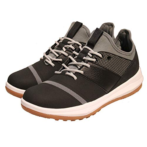 Athalonz EnVe Spikeless Golf Shoes Performance Control Power Stability Enhancing Athletic Shoes, Black/Steel Grey, 9-Men's