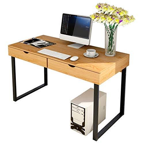 Escritorio De Oficina En Casa,De Múltiples Fines Mesa De Ordenador con 2 Cajones Grandes,Fácil De Montar Gaming Mesa para Ordenador,Mesa De Estudio-C 100x48x76cm(39x19x30inch)