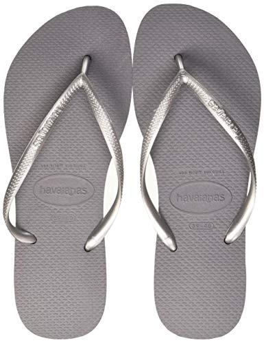 Havaianas Damen Slim' Zehentrenner, Grau (Steel Grey), 35/36 EU