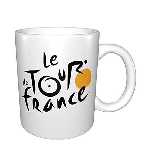 2016 Le Tour de Francia Logo Tazas de cerámica Taza de té blanco regalo Gor Mom