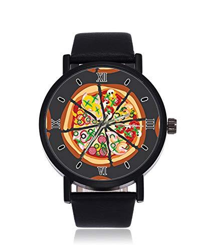 Delicious Pizza Ultrathin Herren Damen Armbanduhr Business Casual Sport Quarzuhr für Frauen Herren Wasserdicht Unisex Armbanduhr