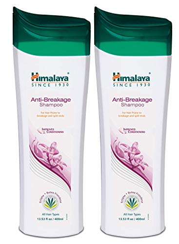Himalaya Anti- Breakage Shampoo, Repairs Damaged, Brittle Hair and Split-ends, 13.53 oz/400 ml (Pack of 2)