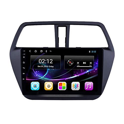 MGEM Autoradio Bluetooth 2 DIN 9' HD Touch Screen, per Suzuki S-Cross 2014-2017 Stereo Auto Radio Vivavoce Lettore MP5 Supporto Android/FM/USB/AUX/Mirror Link/GPS Navigazione,Quad Core,WiFi 1+32