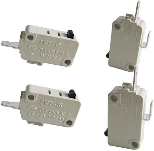 DUDDP Pièces et Accessoires pour Micro-Ondes Réparation de la pièce / 4PCS Micro-Interrupteur de la Porte du Four Micro-Ondes Universel pour DR52 Non (normalement Ouvert) 16A 125 / 250V ZW7-15-W/NO