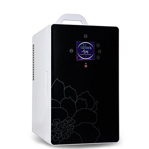 JCOCO Réfrigérateur pour voiture 16L Car Home À double utilisation Mini incubateur à froid et à chaud Réfrigérateur à domicile Chambre à coucher Réfrigérateur Mini réfrigérateur (Couleur : NOIR)