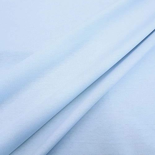 Werthers Stoffe Stoff Baumwolle Meterware Pul hellblau wasserdicht Windelstoff Spannbettlaken Feuchtigkeitssperre