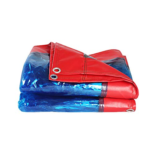 Helder Dekzeil, Multifunctioneel dikke plastic folie, Transparant Plastic Zeil oogjes, kas tuin boot zwembad Covers, Regendicht Luifel, 500G/㎡, 19.6mils/0.5mm