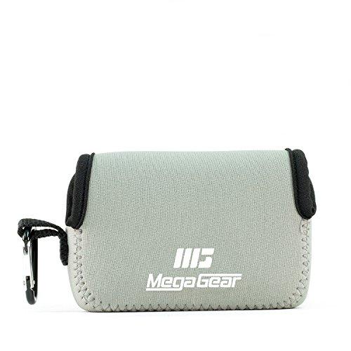 MegaGear MG1246 Custodia per fotocamera ultra leggera in neoprene con moschettone, Canon PowerShot SX740 HS, SX730 HS, SX720 HS, SX710 HS, G16, G15, Grigio