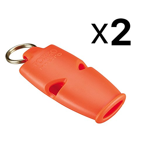 Fox 40 Micro Whistle Lanyard Referee Safety Rescue Dog Outdoor Orange (2-Pack)