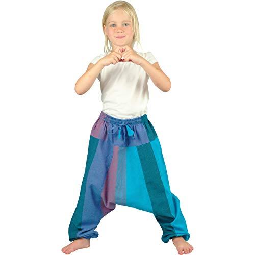 Nitya Design Pumphose für Kinder Sari Haremshose Aladinhose Pluderhose türkis 110/116