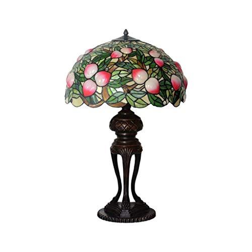 SQDDM Manchado Lámpara De Mesa De Cristal, Hechos A Mano del Art Deco, Lámpara De Mesa Lámpara De Cabecera del Dormitorio De La Lámpara